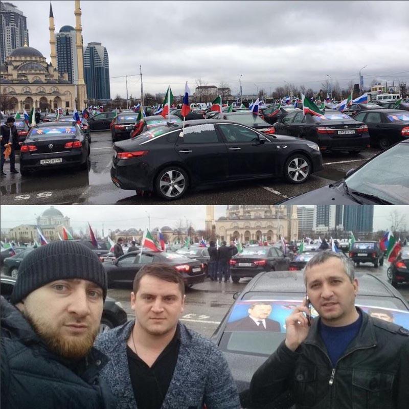 В Чеченской Республике состоялся автопробег, посвященный Дню Конституции ЧР