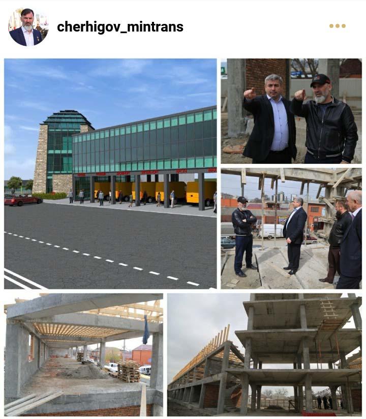 Инспекция строительства в г. Гудермесе нового здания Межрегионального автовокзала