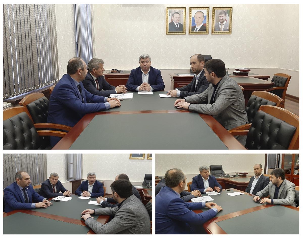 Совещание по вопросу реконструкции  и строительства  аэропорта Грозный «Северный»