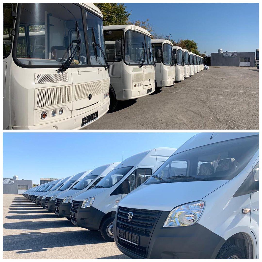 На дорогах Чеченской Республики новый транспорт уже вышел на линии и обслуживает наших пассажиров