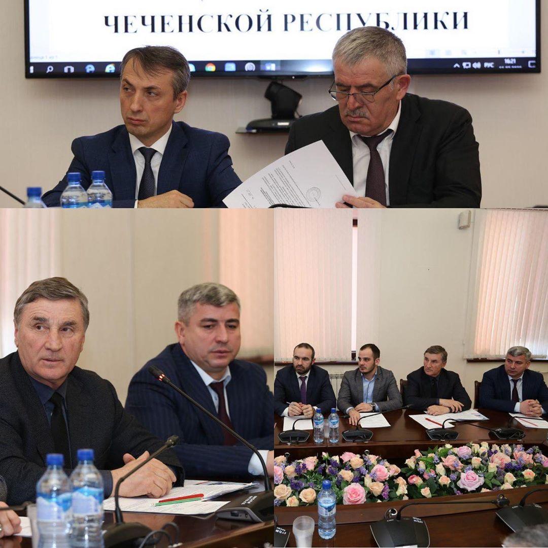 Совещание в министерстве здравоохранения Чеченской Республики