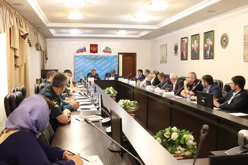 Совещание в Правительстве Чеченской Республики
